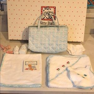 American Girl Bitty Baby diaper bag and ensemble
